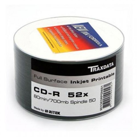 CDR Traxdata 52X printabil shrink 50