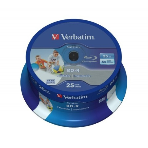 BLUE RAY Verbatim Printabil 6X cake 25