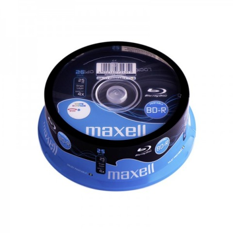 BLUE RAY Maxell Printabil 4X cake 25