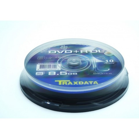 DVD+RDL Traxdata cake 10