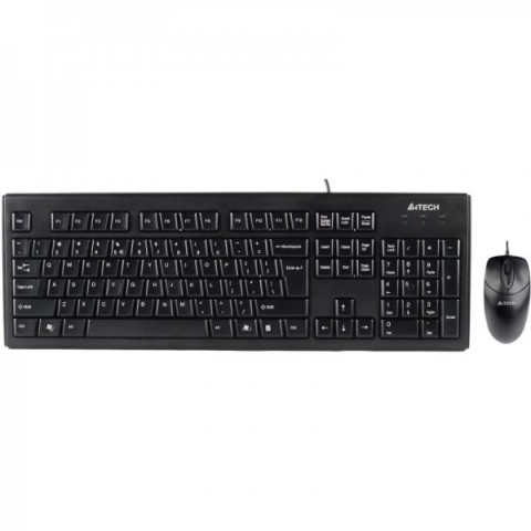 Kit tastatura + mouse A4tech KRS-8372, USB, negru