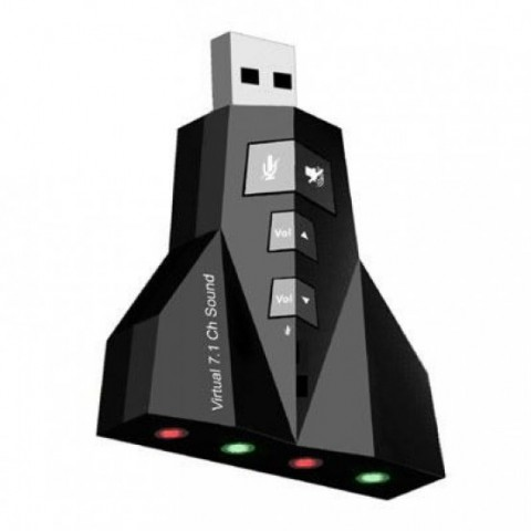 Placa de sunet USB, 4 mufe,