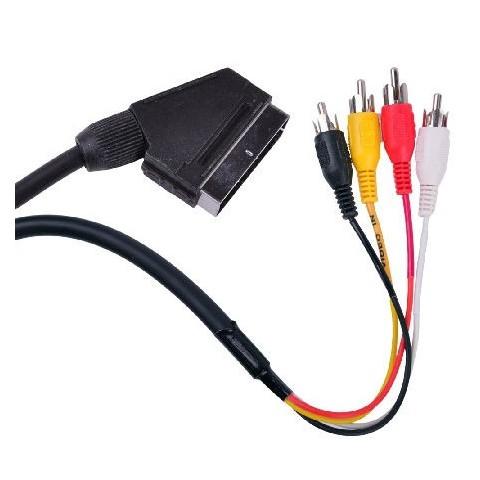 Cablu Scart-4RCA 1,5m