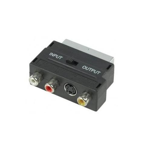 Adaptor SCART Tata -  3 x RCA mama+S-VHS mama