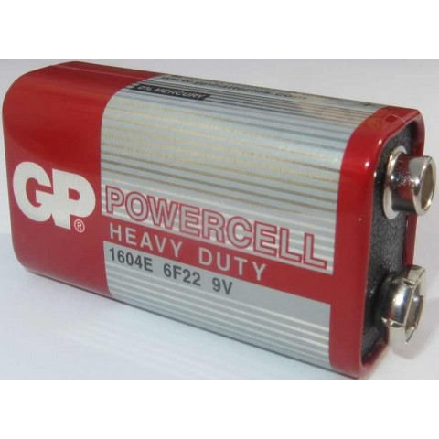 Baterie zinc 9V 1 buc/folie Powercell GP